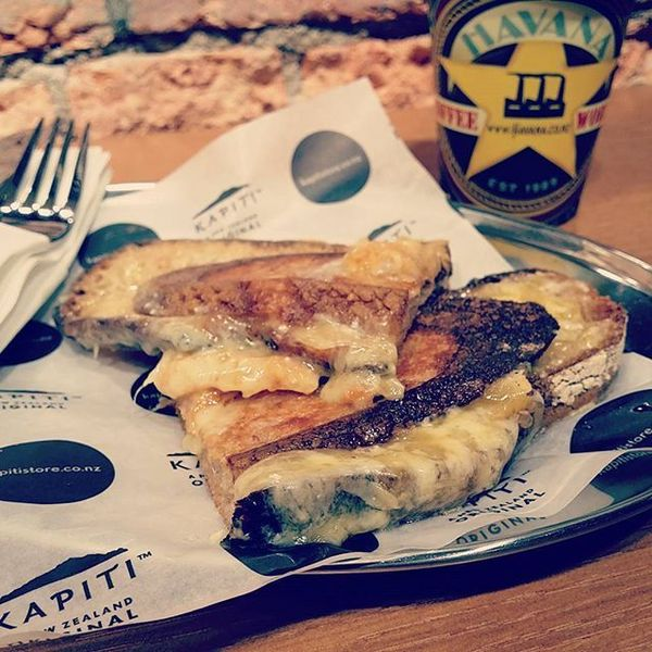 COFFEEUFEEL - #grilledcheesesandwich and #havanacoffee what a winner #coffeeaddict #ilovecoffee #cheese #flatwhite