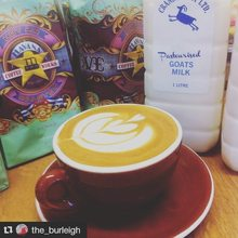 COFFEEUFEEL - How cool is this?! You can now get a coffee the_burleigh made with crankygoatltd goat milk. Handy for those who are #lactoseintolerant or looking for a...