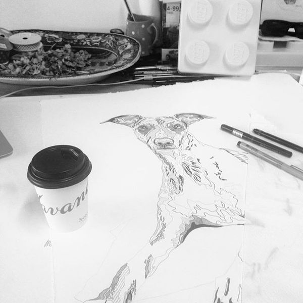 COFFEEUFEEL - Where would we be without good coffee...? Still in bed probs... #ArtistFuel #CharlotteHawleyCreative #marksOnPaper #drawing #commission #havanacoffee...