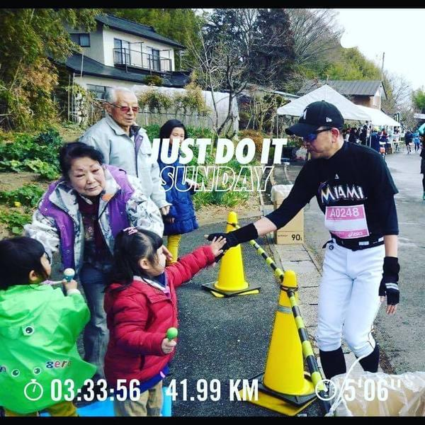 笑顔の架け橋Rainbowプロジェクト - Thanks for everything Ichiro at Tohoku food marathon! #run #running #nike #nikerun #nikeplus #nikerunning #NRC #JustDoIt #Garmin #ナイキ #ナイキプラス #ラン #ランニング...